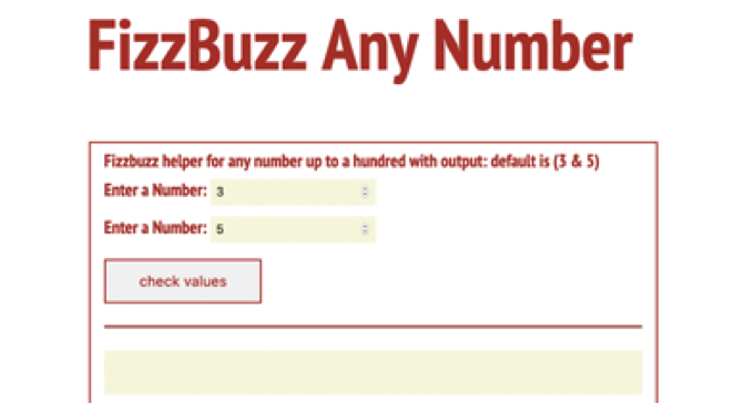 FizzBuzz Any Number